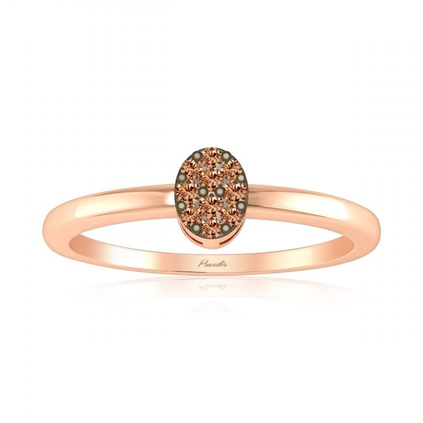 Cluster Rings | ANCHITA Diamond Ring | 14kt Rose Gold