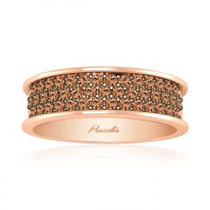 Rose Gold Casual Ring | TIARA | Brown Diamonds