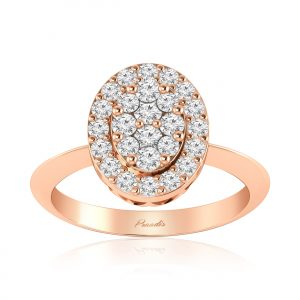 MYRA CLUSTER RING | 14Kt Rose Gold | 14Kt White Gold