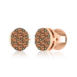 Brown Diamond Studs | MRIDINI | 14kt Rose Gold