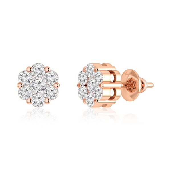 Studs | GAMYA White Diamond | 14kt Rose Gold | Praadis Collection