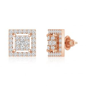 Diamond Studs Earrings | HANITA | 14kt Rose Gold