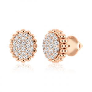 Diamond Stud Earrings | ARISSA | 14kt Rose Gold
