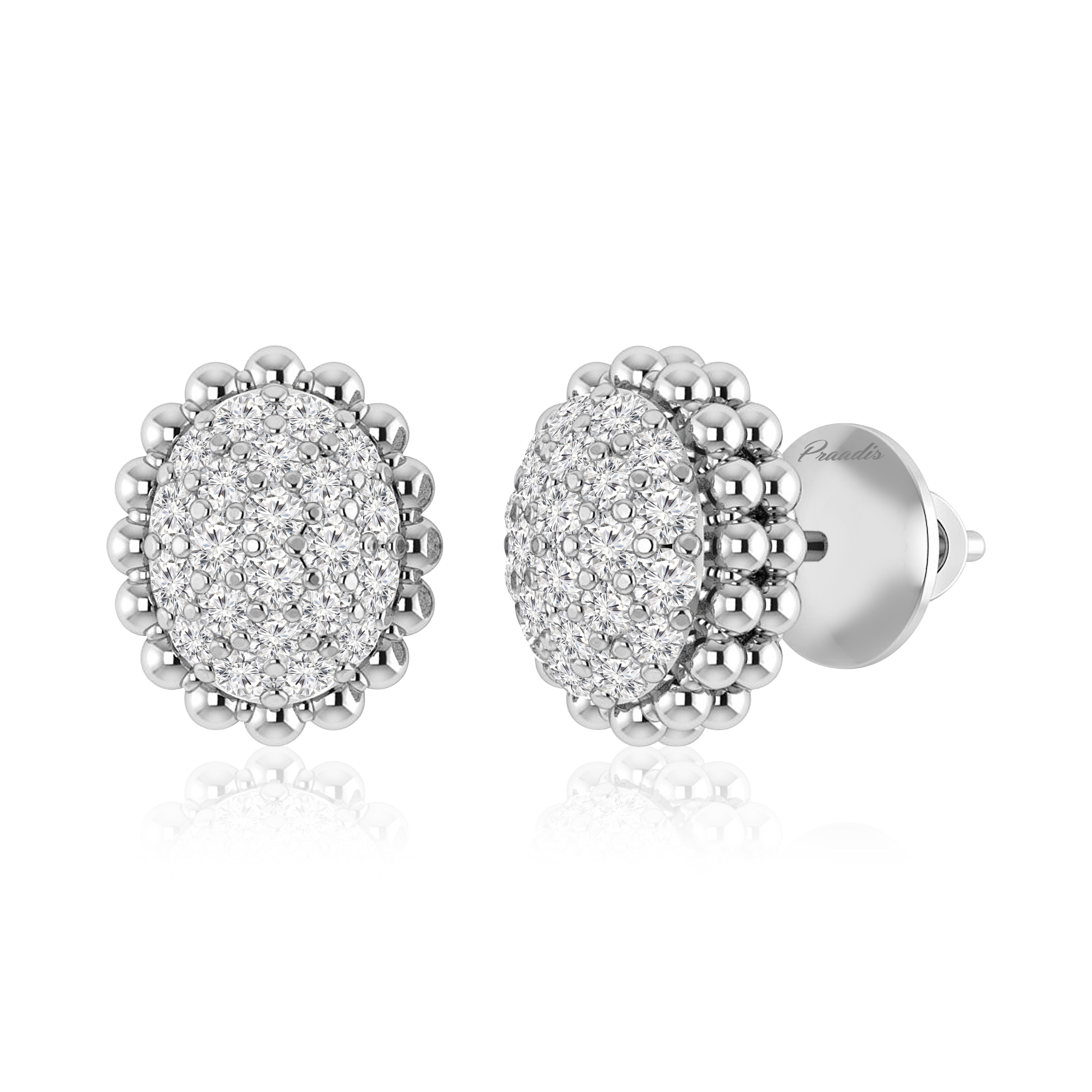 Arissa Studs Earring 14kt Rose Gold White Diamonds