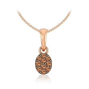 Cluster Diamond Pendant | ADHYA | 14kt Rose Gold | Praadis Diamonds