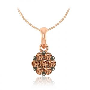 Luxury Diamond Pendant | DELICADO | 14kt Rose Gold