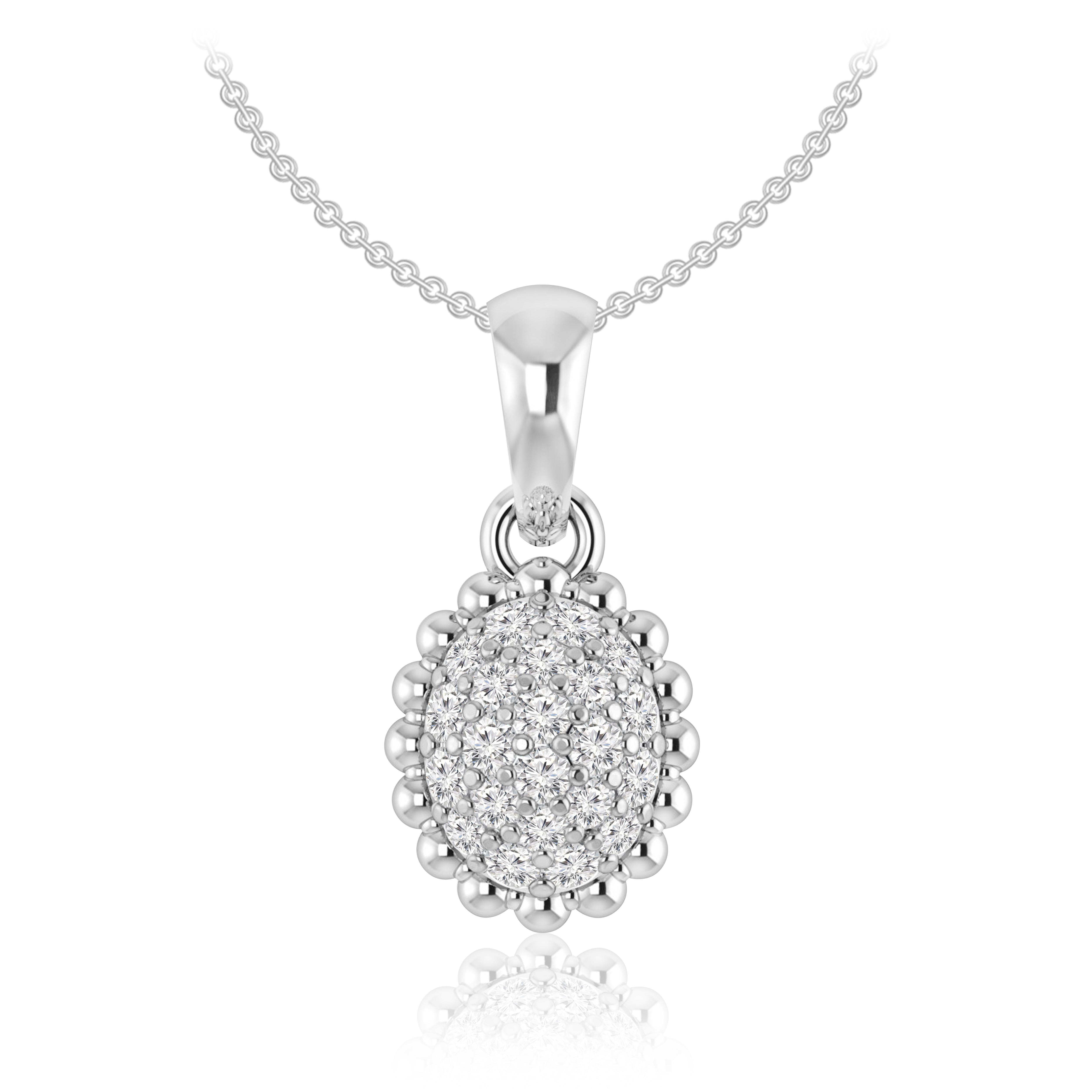 Arissa cluster pendant praadis pendant praadis cluster arissa 14kt rose gold white diamonds pendant aloadofball Gallery
