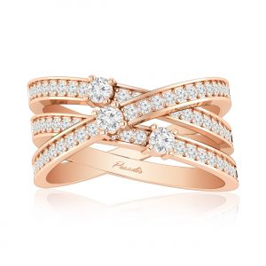 Inara Cocktail Ring | 14kt Rose Gold | White Diamond