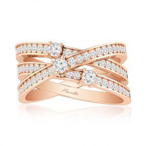 Inara Cocktail Ring | 14kt Rose Gold | White Diamond