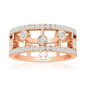 Neria Cocktail Ring | 14kt Rose Gold | White Diamond