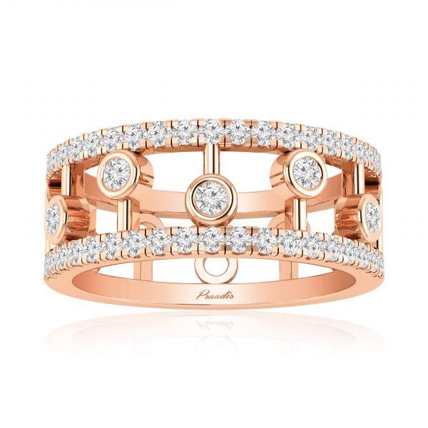 Neria Cocktail Ring | 14kt Rose Gold | White Diamond