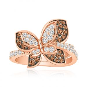 Felicia Cocktail Ring | 14kt Rose Gold | White Diamond
