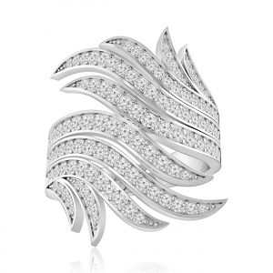 Jennifer Cocktail Ring | 14kt White Gold | White Diamond