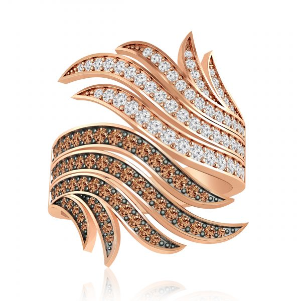 Jennifer Cocktail Ring | 14kt Rose Gold | White Diamond