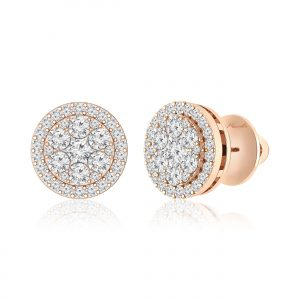 Nisreen Studs Earring | White Diamond | 14Kt Rose Gold