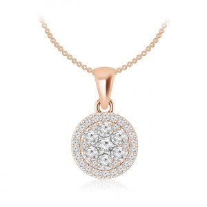 Luvena Cluster | White Diamond | 14Kt Rose Gold | Praadis