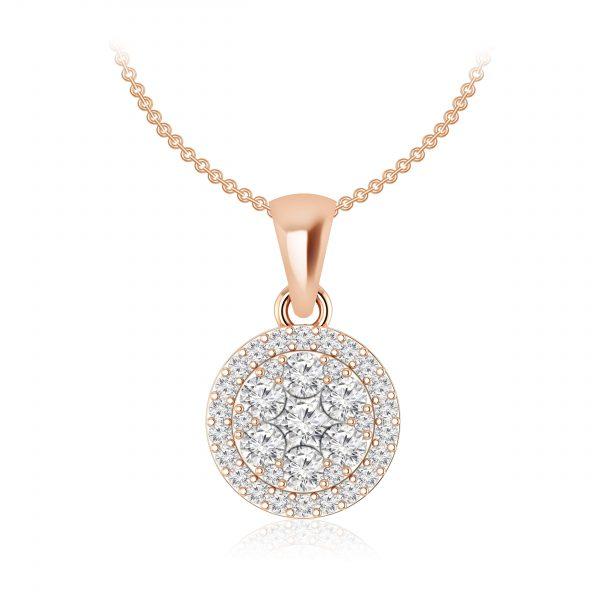 Luvena Cluster | White Diamond | 14Kt Rose Gold | Praadis