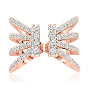 TARZ diamond ring Rose Gold
