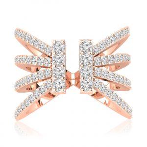 TARZ diamond ring Rose Gold