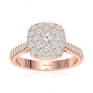 Ranya Rose Gold Diamond Ring