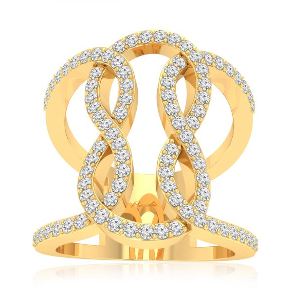Orida Yellow Gold Diamond Ring 1420X75