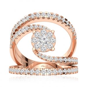 AKSHADHA Rose Gold Diamond Ring