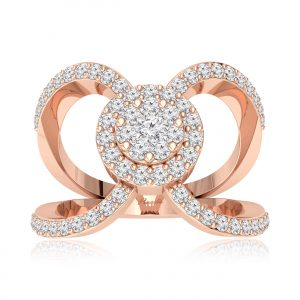 ZAHARA Rose Gold Diamond Ring