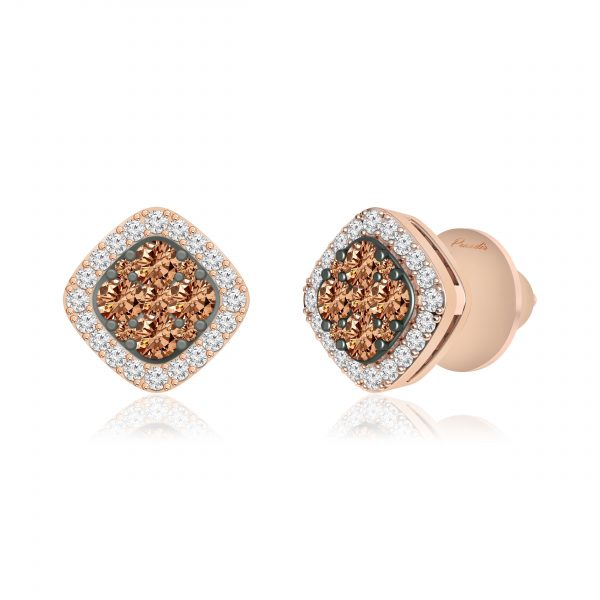 PANKHURI Brown Diamond Studs