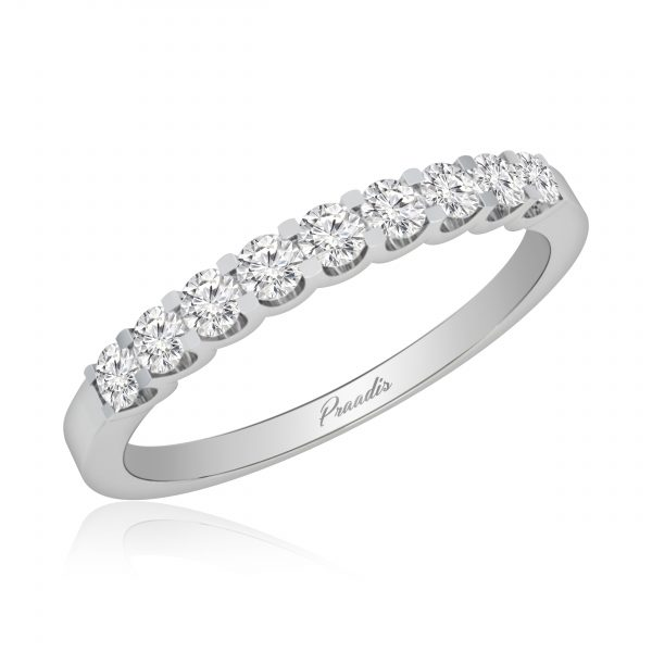 Diamond Band Rings | CARDINAL | 14 Kt White Gold |
