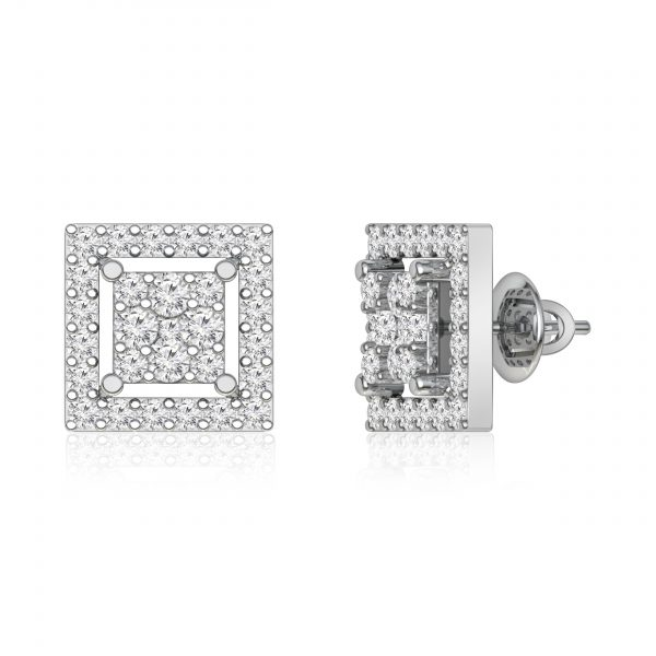 Diamond Studs Earrings | HANITA | 14kt Gold