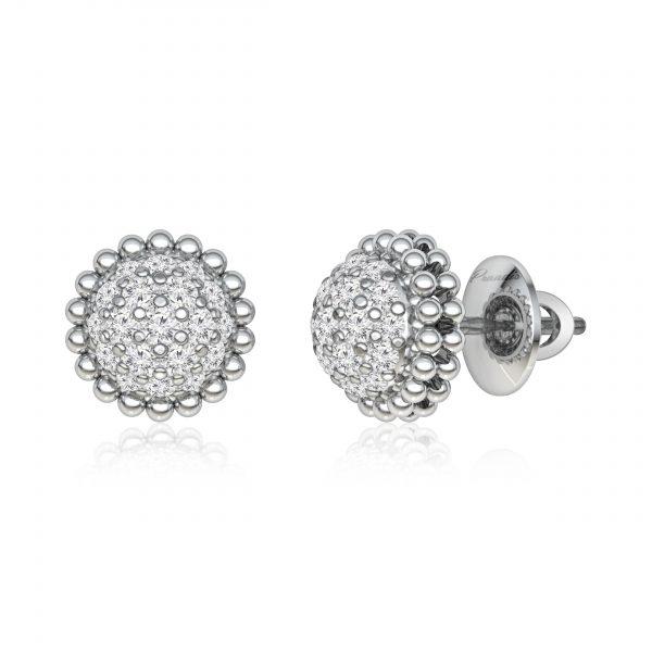 White diamond Studs   HARNI   14kt White Diamond Studs