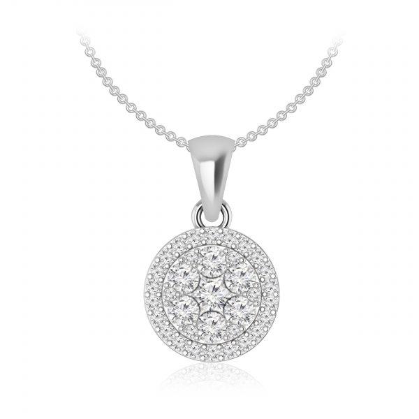 LUVENA White Diamond Pendant